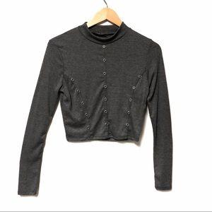 Fashion Nova Long Sleeve Crop Top